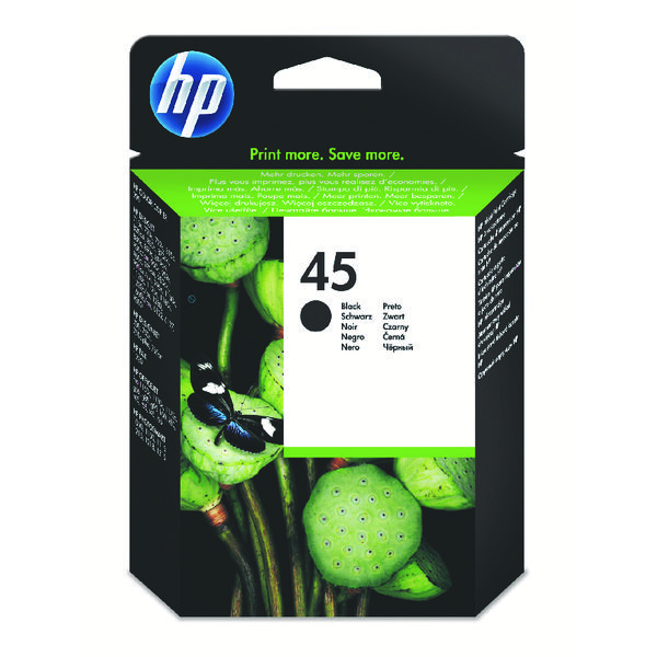 HP 45 Black Inkjet Cartridge 51645AE