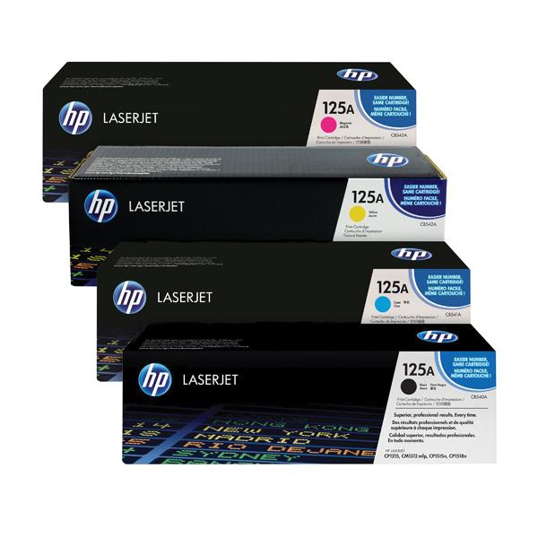 HP 125A Toner Cartridge Bundle Cyan/Magenta/Yellow/Black (Pack of 4)