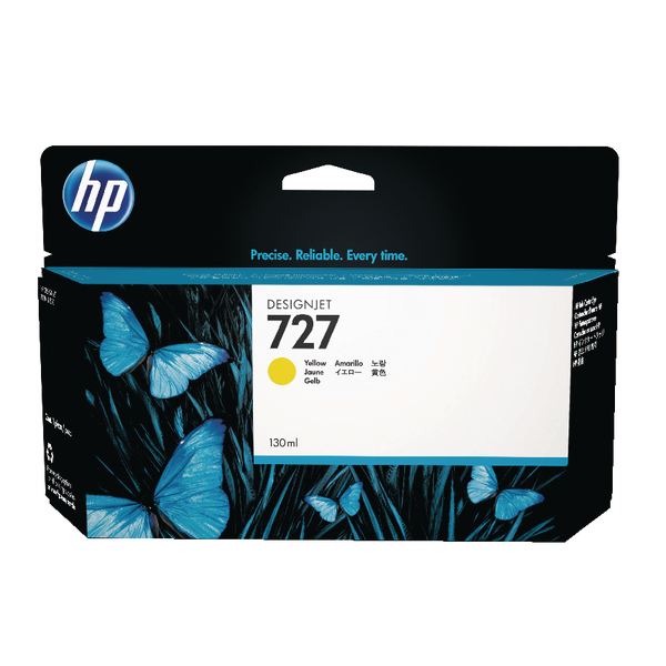 HP 727 Yellow High Yield Designjet Ink Cartridge B3P21A