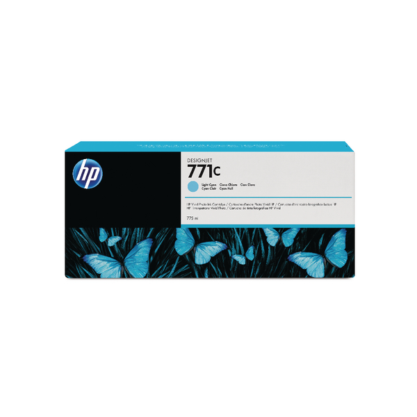 HP 771C Light Cyan Designjet Ink Cartridge B6Y12A