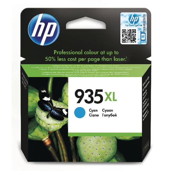 HP 935XL Cyan High Yield Ink Cartridge C2P24AE