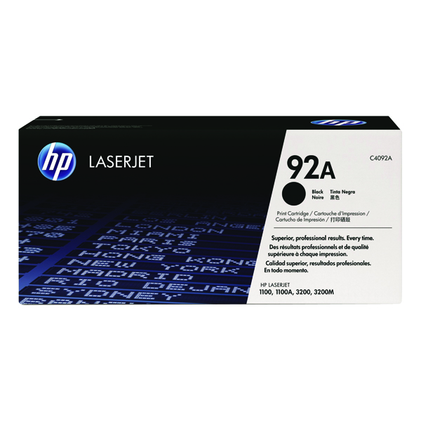Image for HP 92A Black Laserjet Toner Cartridge C4092A