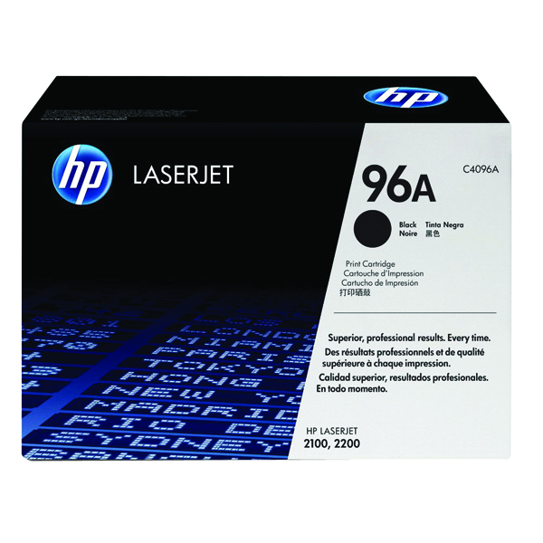 HP 96A Black Laserjet Toner Cartridge C4096A