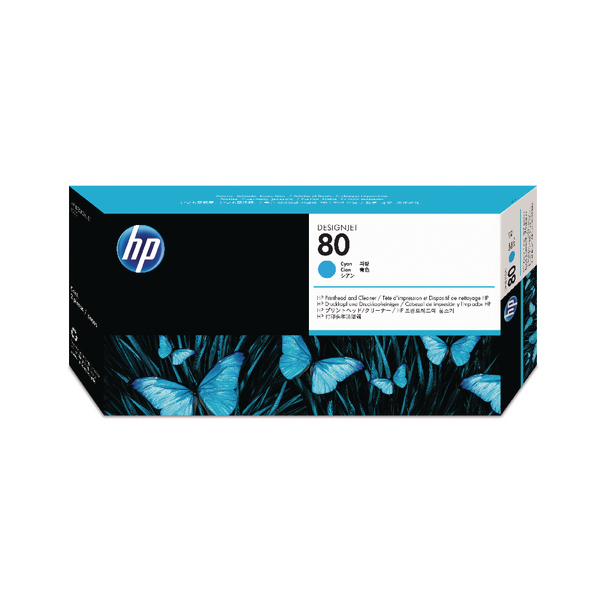 HP 80 Cyan Printhead/Cleaner C4821A
