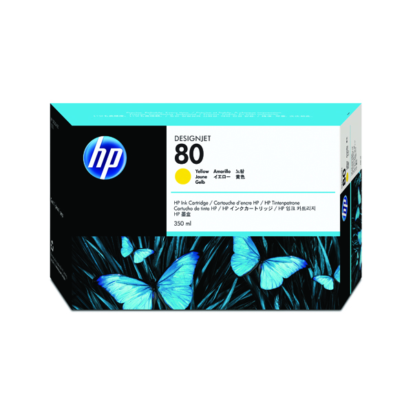 HP 80 Yellow Inkjet Print Cartridge C4848A