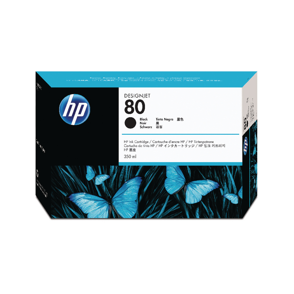 HP 80 Black Inkjet Print Cartridge C4871A
