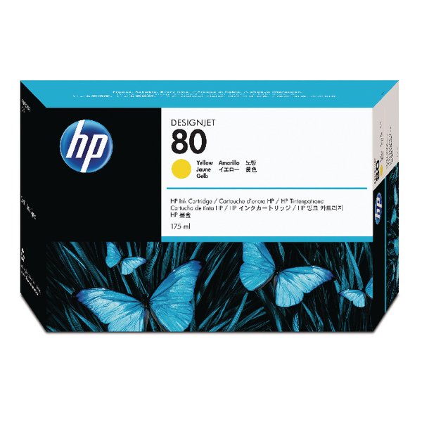 Image for HP 80 Yellow Inkjet Print Cartridge C4873A