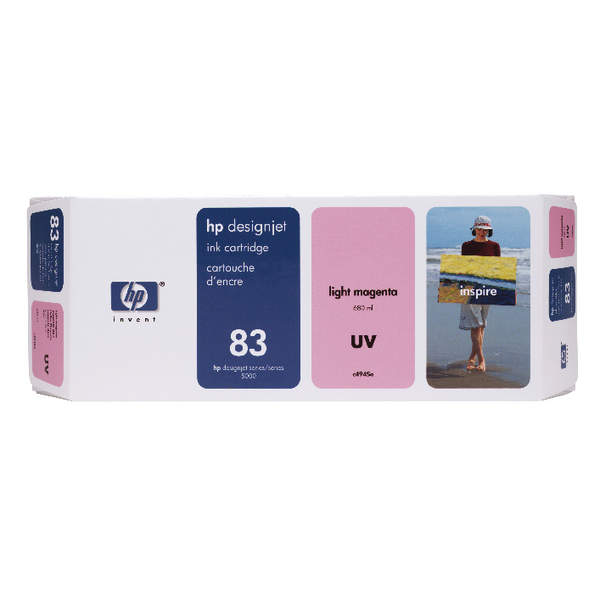 HP 83 Light Magenta UV Inkjet Cartridge C4945A