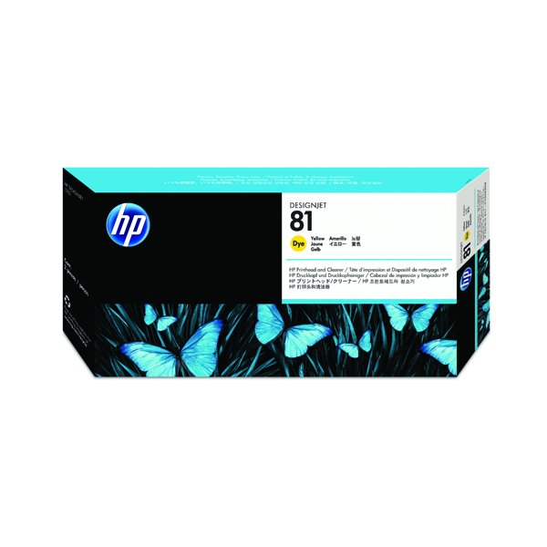 HP 81 Yellow Dye Printhead and Cleaner C4953A