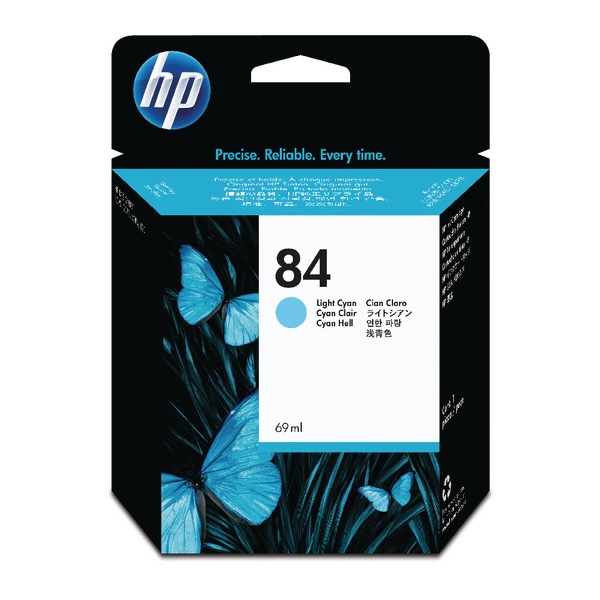 HP 84 Light Cyan Designjet Inkjet Cartridge C5017A