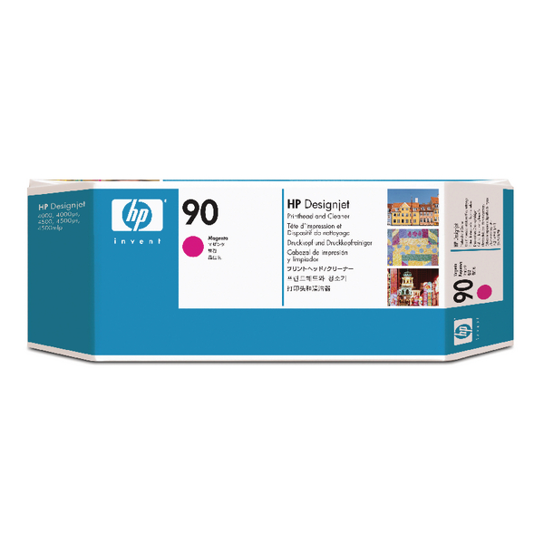 HP 90 Magenta Printhead and Cleaner C5056A