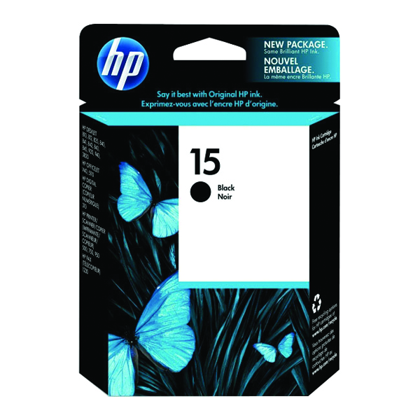 HP 15 Black Inkjet Cartridge DeskJet C6615D
