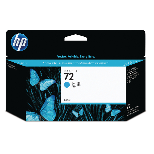 HP 72 Cyan Ink Cartridge C9371A