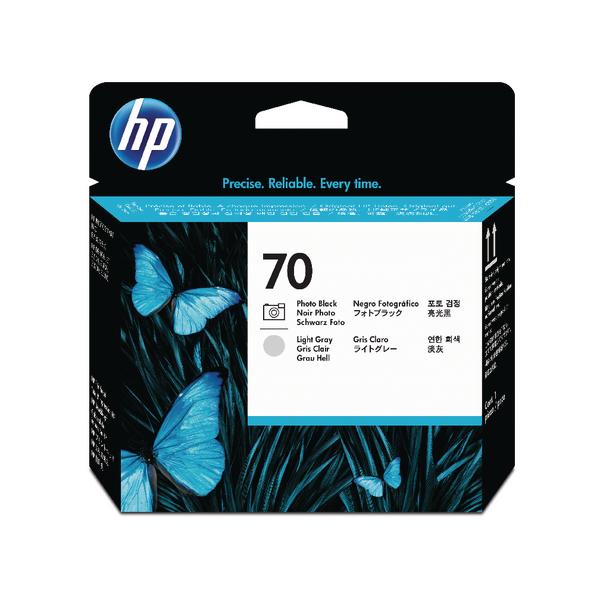 HP 70 Photo Black /Light Grey Printhead (Pack of 2) C9407A