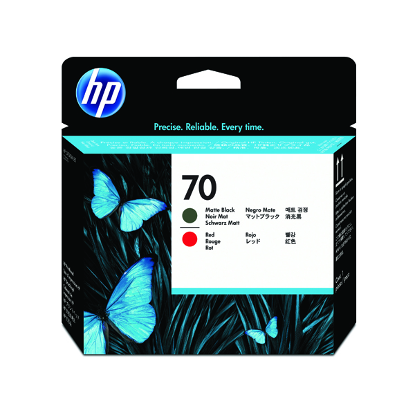HP 70 Black/Red Printhead Twin C9409A