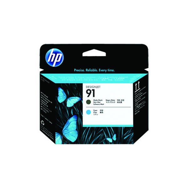 HP 91 Matte Black /Cyan Printhead C9460A