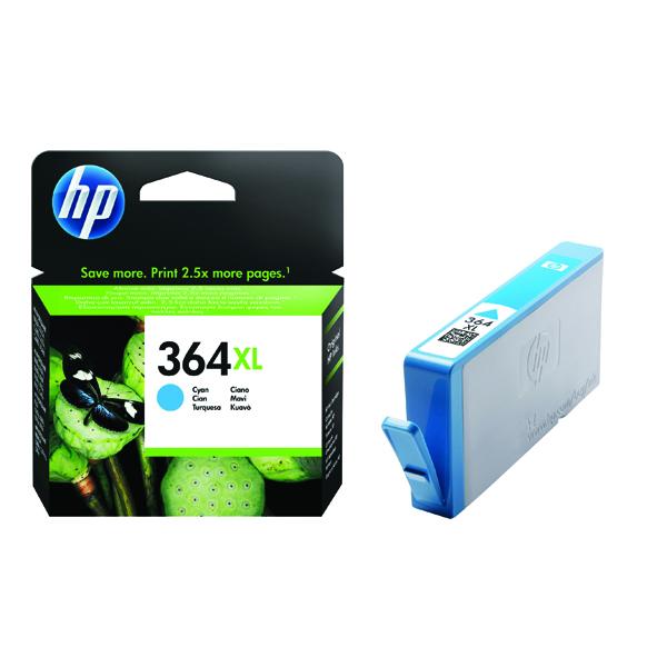 HP 364XL High Yield Cyan Inkjet Cartridge CB323EE