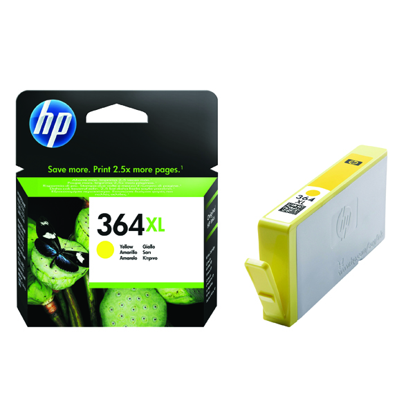HP 364XL High Yield Yellow Inkjet Cartridge CB325EE