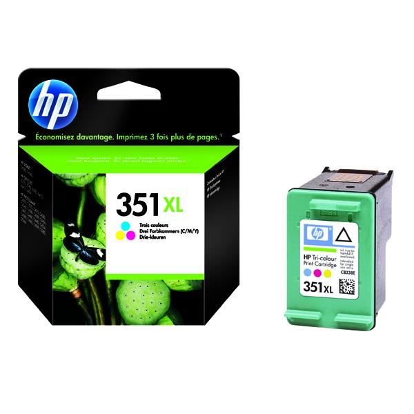 HP 351XL Cyan/Magenta/Yellow High Yield Inkjet Cartridge CB338EE