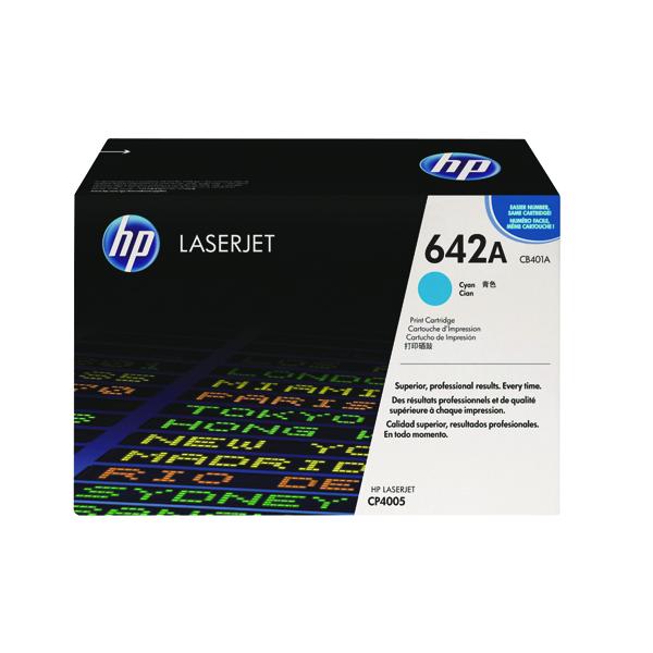 HP 642A Cyan Laserjet Toner Cartridge CB401A