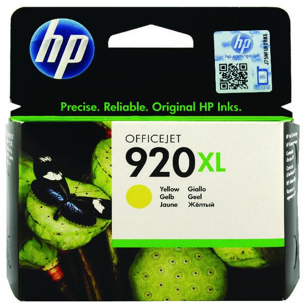 HP 920XL High Yield Yellow Ink Cartridge CD974AE