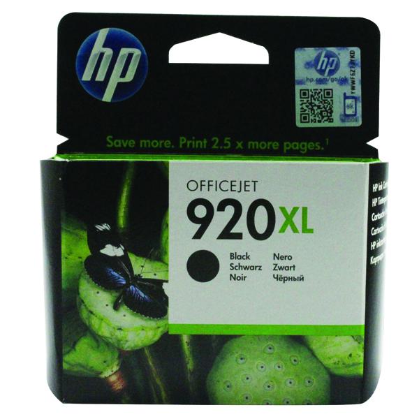 HP 920XL High Yield Black Ink Cartridge CD975AE