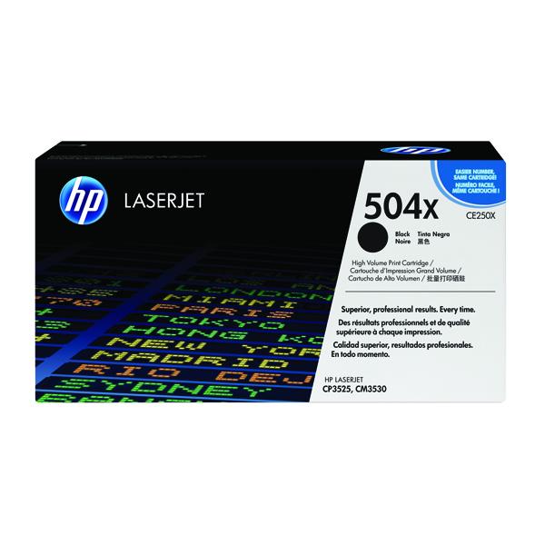 HP 504X Black High Yield Laserjet Toner Cartridge CE250X
