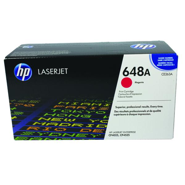 HP 648A Magenta Laserjet Toner Cartridge CE263A