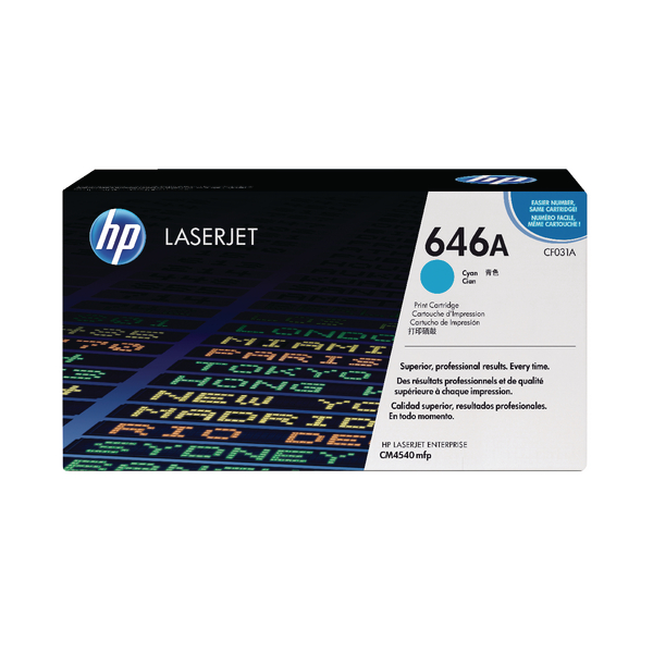 HP 646A Cyan Laserjet Toner Cartridge CF031A