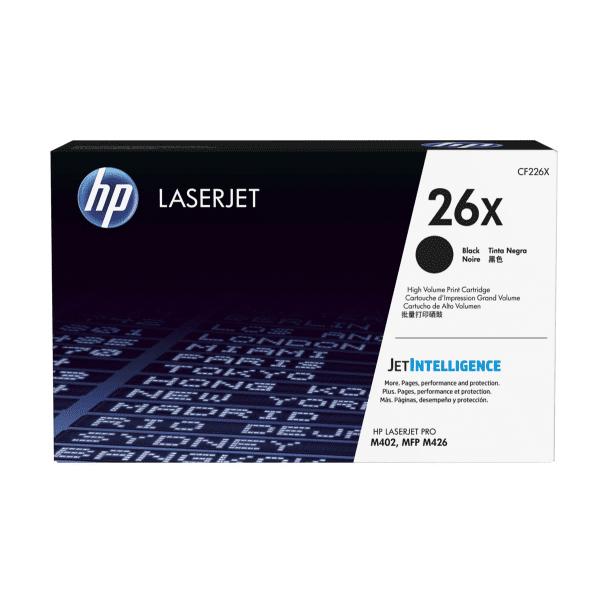 HP 26X High Yield Black Laserjet Toner Cartridge CF226X