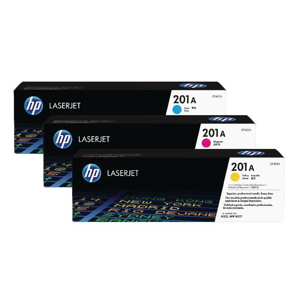 HP 201X High Yield Cyan Magenta Yellow Laserjet Toner Cartridge (Pack of 3) CF253XM