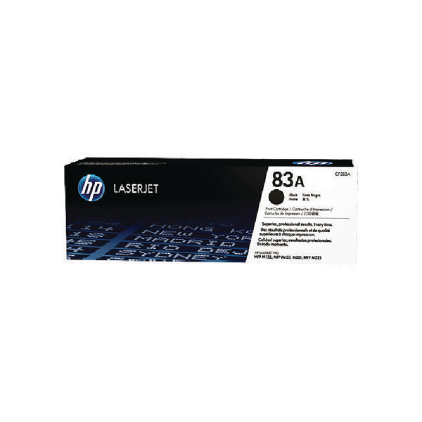 HP 83A Black Laserjet Toner Cartridge CF283A