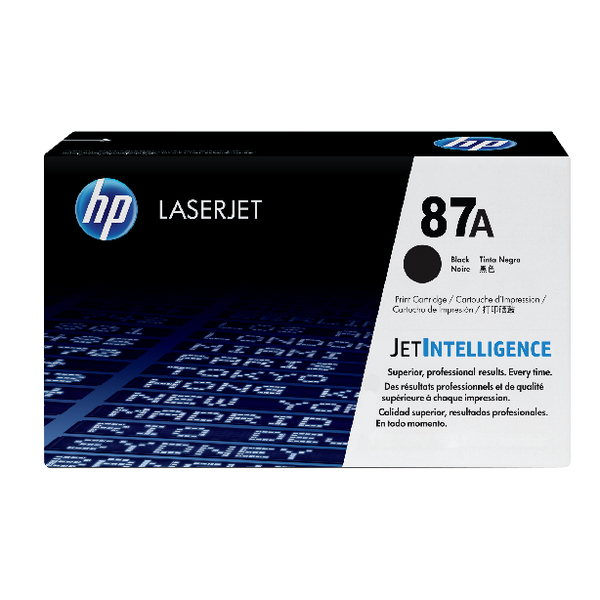 HP 87A Black Laserjet Toner Cartridge CF287A