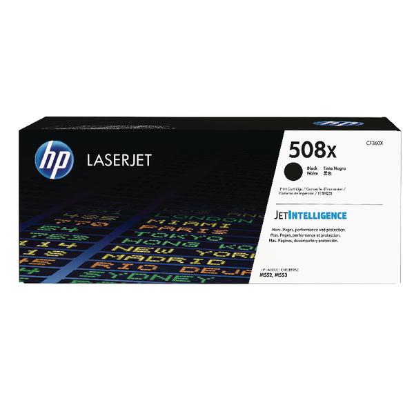 HP 508X Black High Yield Laserjet Toner Cartridge CF360X