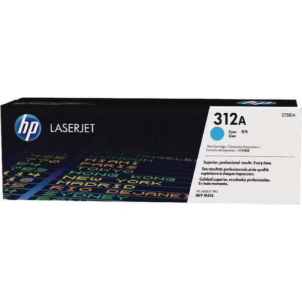 HP 312A Cyan Laserjet Toner Cartridge CF381A