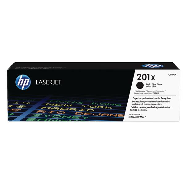 HP 201X High Yield Black Laserjet Toner Cartridge CF400XD Pack of 2