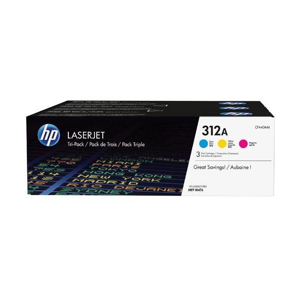 HP 312A Cyan/Yellow/Magenta Laserjet Toner Cartridge (Pack of 3) CF440AM