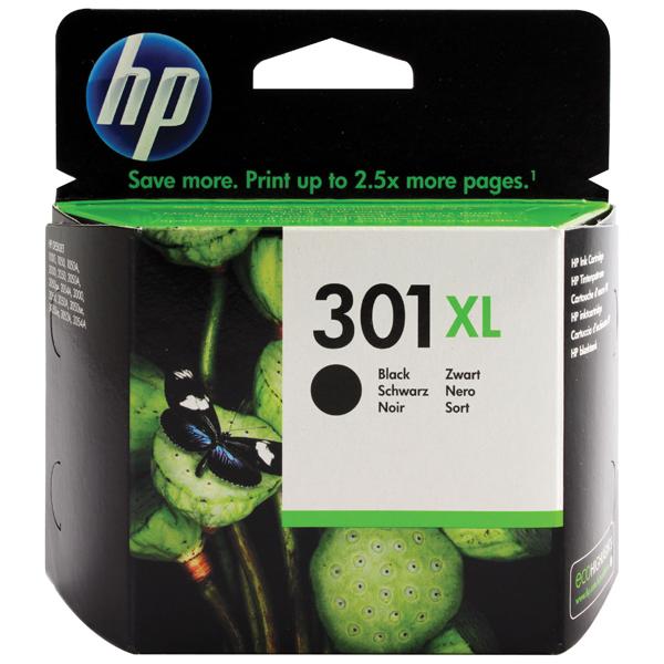 HP 301XL Black Ink Cartridge CH563EE