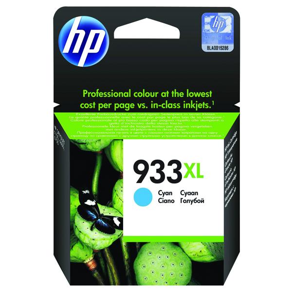 HP 933XL Cyan Officejet Inkjet Cartridge CN054AE