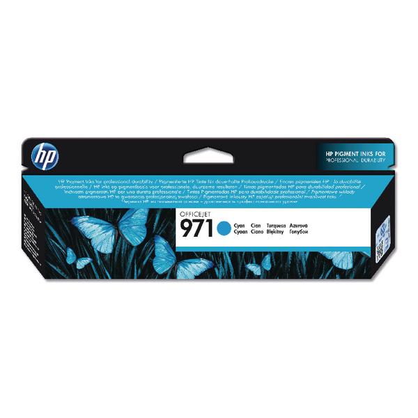 HP 971 Cyan Officejet Ink Cartridge CN622AE