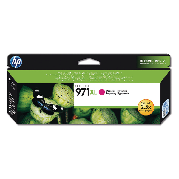 HP 971Xl Magenta Officejet Ink Cartridge CN627AE