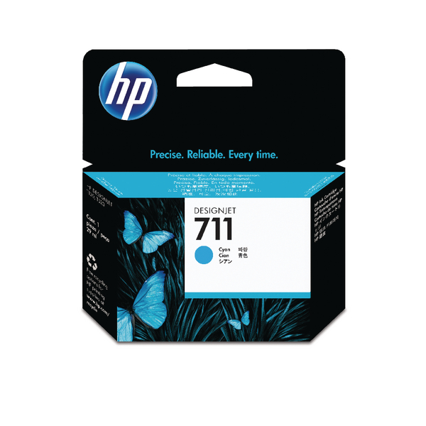 HP 711 Cyan Inkjet Cartridge CZ130A