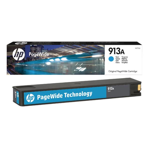 HP 913A Cyan PageWide Inkjet Cartridge F6T77AE