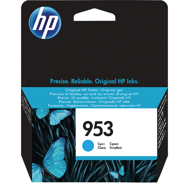 HP 953 Ink Cyan Cartridge F6U12AE