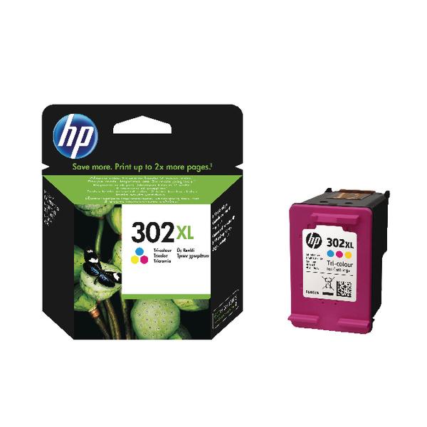 HP 302XL Cyan/Magenta/Yellow Ink Cartridge F6U67AE
