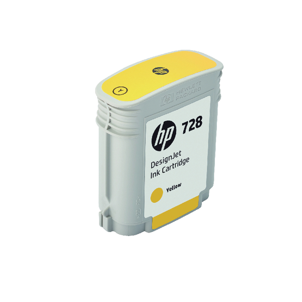 HP 728 DesignJet Ink Yellow Cartridge F9J61A
