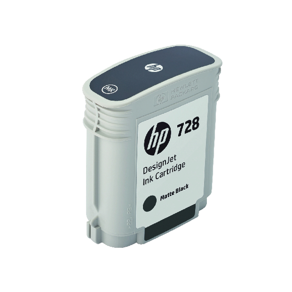 HP 728 DesignJet Matte Black Ink Cartridge 69ml F9J64A
