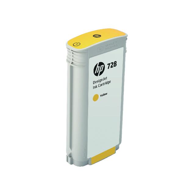 HP 728 DesignJet Ink Yellow Cartridge 130ml F9J65A