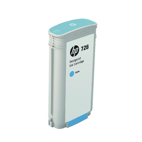 HP 728 DesignJet Ink Cyan Cartridge 130ml F9J67A