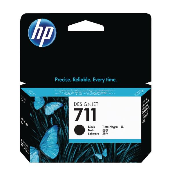 HP 711 Black DesignJet Ink Cartridge 80ml (Pack of 2) P2V31A